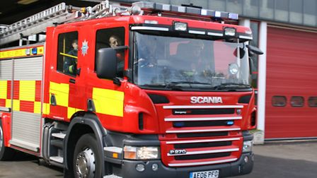 Fires broke out at two Stansted homes this morning