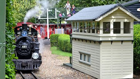 The miniature railway. Picture by Megan Ridgewell