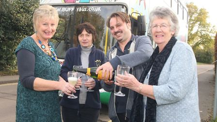 Rosie Juhl (Buffy Bus project manager), Christine Seddon (play leader), Dan Pipe (play leader and bu