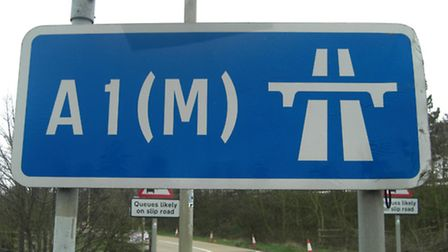 Herts Police closed the A1(M) temporarily today (Friday) while fire crews attended the scene