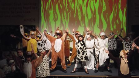 Children from Debden Primary School performed their Christmas production of 'Babylon Times' to four