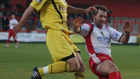 Lee Boylan scored twice against Cambridge United in a 4-1 New Year's Day win in 2010. Photo: Comet l