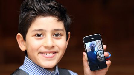 Mina Habib, with the 'selfie' he took with Prince Charles