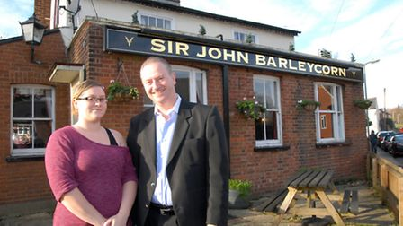 Emily Piper & Ron Piper at the Sir John Barleycorn, which has been registered as a community asset