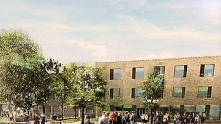An artist's impression of how the new school will look