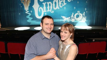 Stephen Coates proposed to girlfriend Emma Owen on stage at the Cinderella panto at the Gordon Craig