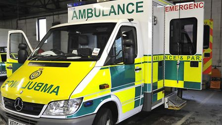 Emergency services were called after the collision between a car and a motorbike