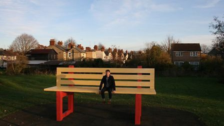 A huge bench has been installed by Groundwork Hertfordshire in Walsworth Common, Hitchin