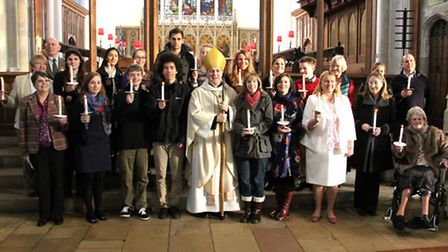 The Bishop of Chelmsford confirmed a group of young people and adults at St Mary's Parish Church.