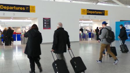 The first section of Stansted Airport's new security search opened to passengers today.