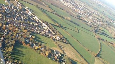 The proposed site for the housing development is placed in the narrow boundary between the north of