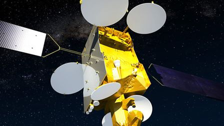 A satellite designed by workers at Stevenage's Astrium site