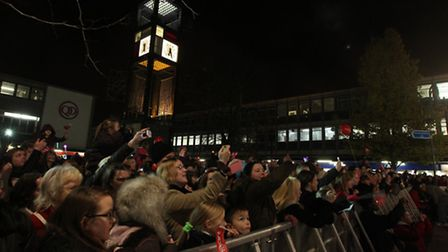 The crowd during this year's Christmas lights switch-on event in Stevenage