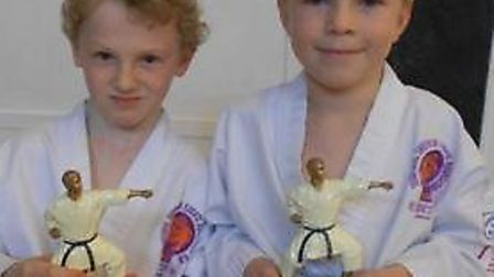 Archie Jones (left) and Edward Fish won Student of the Year Award 2013