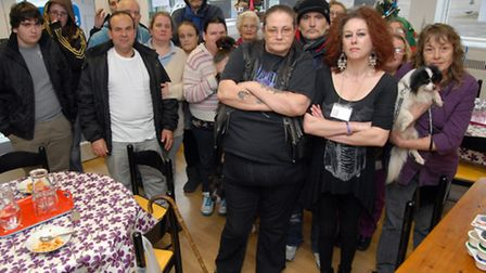 Staff and patrons of YMCA So Stevenage ahead of its closure in December