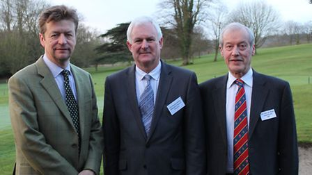From left, Chris Wade, CEO of Action Market Towns, Cllr Howard Rolfe, cabinet member with responsibi