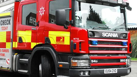 Fire crews attended the scene in Apollo Way this morning