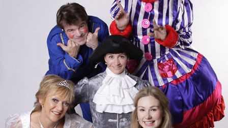 This year's Stevenage panto has been praised. Cast members Gillian Wright and Rebecca Tyson (front),