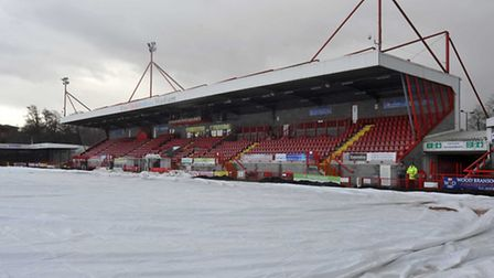 Crawley's game against Stevenage was called off today. Photo: Alan Millard