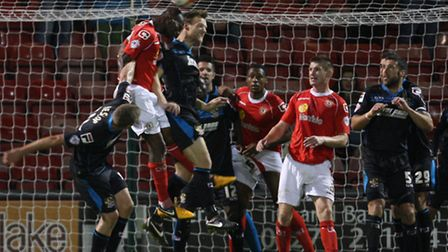 Crewe Alexandra, here in action against Boro in October, beat Sheffield United 3-0 on Saturday. Phot