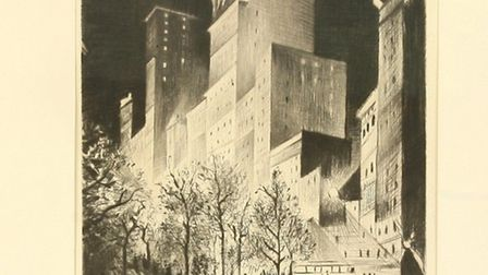 Nevinson's drypoint picture of New York – Lot 102