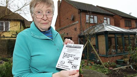 Hilde Betts is warning people to be careful before employing door step traders