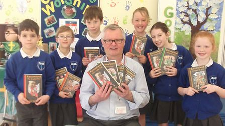 Jack Trelawny visited Radwinter School and talked about his work and books.