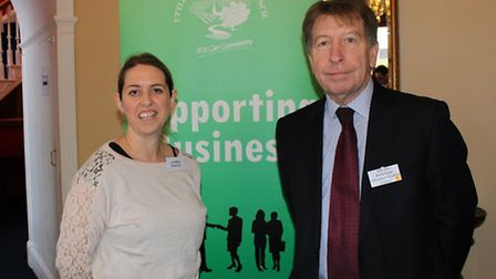 Lisa Bone, strategic tourism manager from Visit Essex and Cllr Jim Ketteridge, leader of Uttlesford