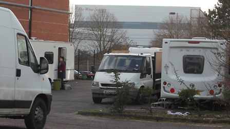 Travellers are occupying the old Fujitsu building in King's Road, Stevenage