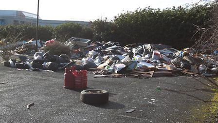 Rubbish at the site on King's Road