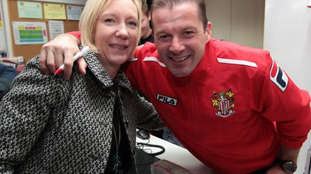 Graham Westley poses with Julie Campbell