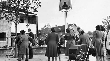 The opening of the Twin Foxes pub in Rockingham Way in 1953 - the first in the new town