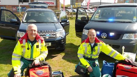 Two BEARS medics with their specialised equipment.