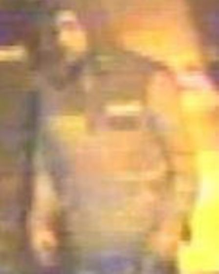 Police wish to speak to this man in relation to a burglary at a greengrocer's stall in Leys Square,