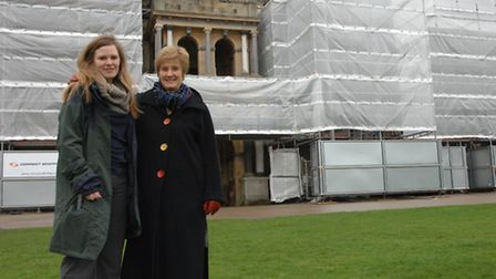 Lynsey Coombs, general manager Audley End House & Gardens, and Pat Lodge from the Uttlesford Volunte