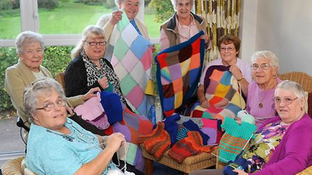 The Knit and Natter group at Macfadyen Webb House in Letchworth GC