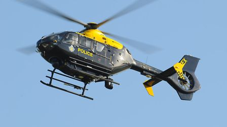 An NPAS police helicopter