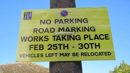 Residents in Baldock have been left puzzled by a misleading sign. Credit: Patrick Kavanagh
