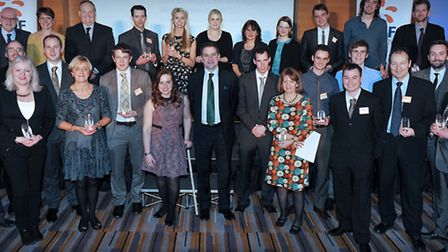 The winners of the East of England EDF Energy Awards 2013, including Comet photographer Harry Hubbar