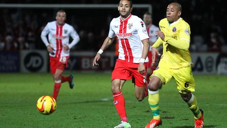 Bruno Andrade in action against Sheffield United