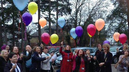 Stand-by-Me Bereavement Support gets off to a flying start with team members releasing balloons to c