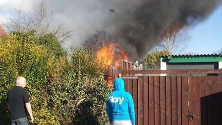 Police are investigating after an arson attack in Letchworth