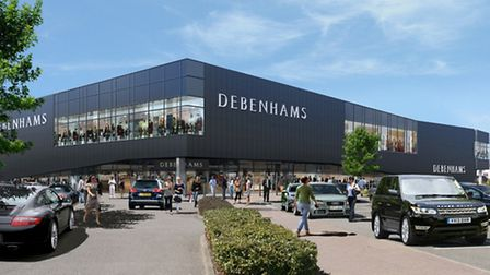 Debenhams has submitted plans to open a new store in Stevenage