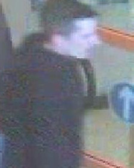 Police wish to speak to this man after two bike helmets were stolen from Halfords, Cotton Brown Park