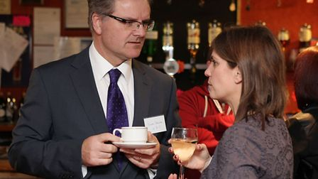 Uttlesford District Council's economic development officer Simon Jackson and Wendy Howell, who has h