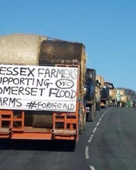 Essex Young Farmers Club sending hay and straw to farners in Somerset.
