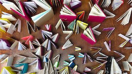 Jane Glynn made 366 books - one for each day of 2012