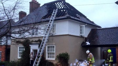 Firefighters were called to attend an accidental loft fire in Letchworth GC this morning. Credit: @O