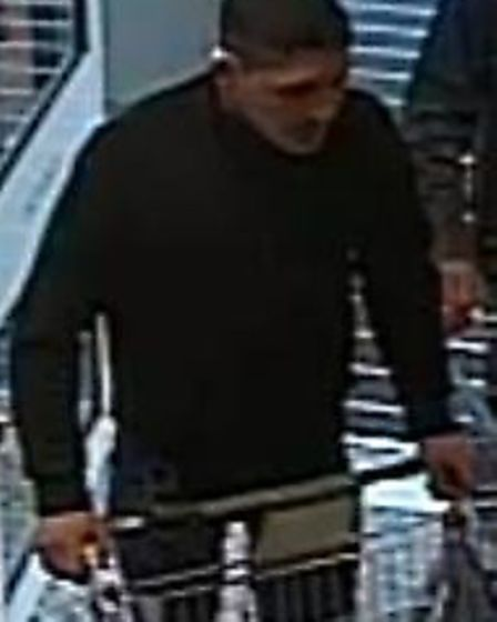 Police would like to speak with this man in connection with a theft on January 24 from a supermarket