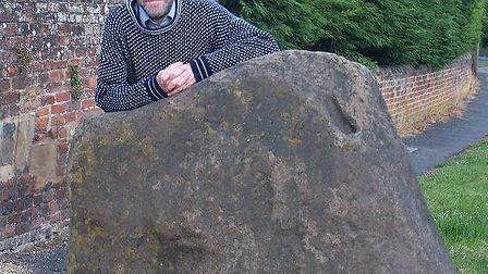 Gerald Lucy by the Newport Leper Stone